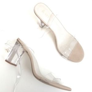 63bca48eb52 RAYE Shoes - Raye X Revolve Alta Lucite Heel in Clear Heels 10